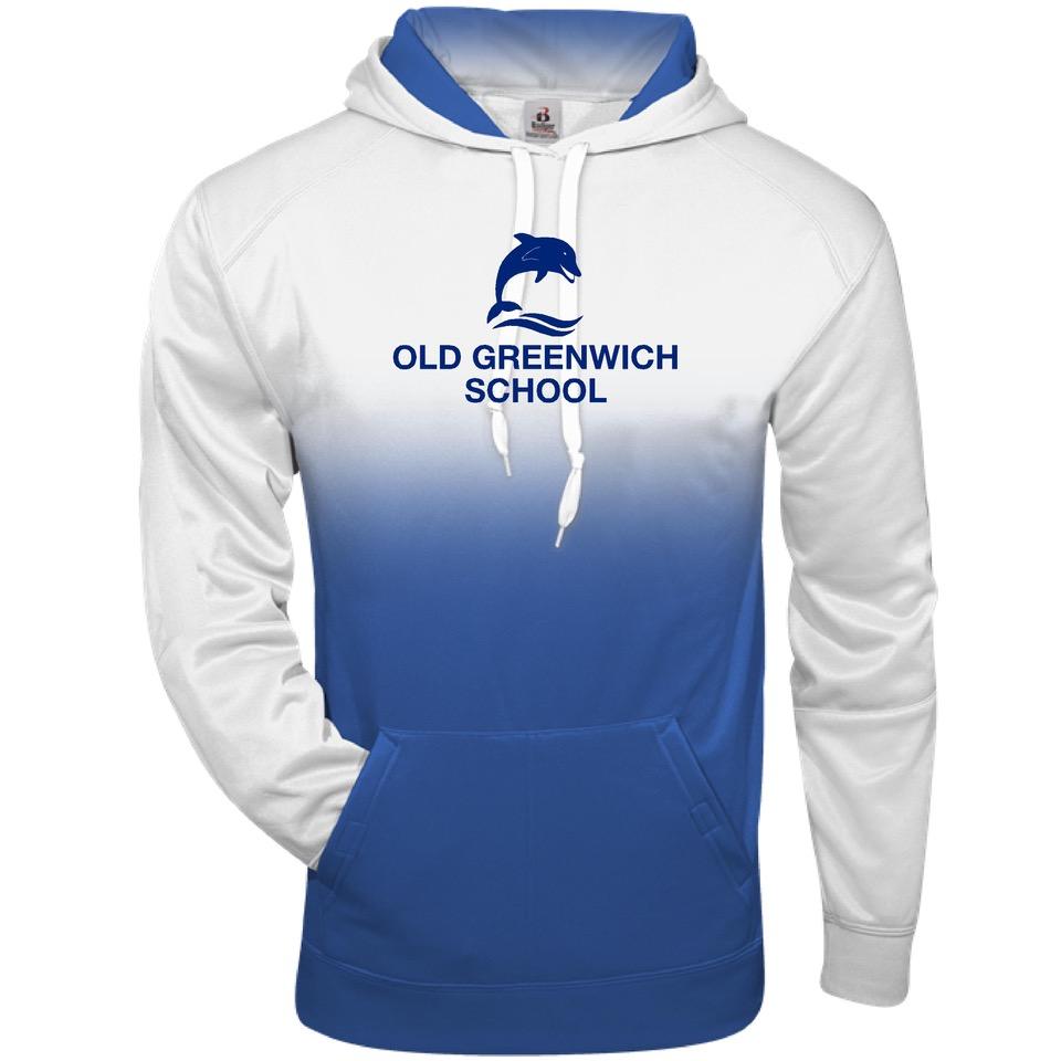 Hooded Sweatshirt Blue Ombre